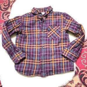 Strasburg Sz 6Y plaid flannel button down shirt